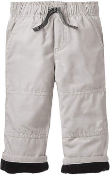 Gymboree Light Gray Lined Gymster Pants - Infant