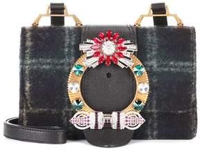 Miu Miu Embellished wool-blend shoulder bag