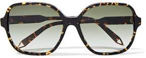 Victoria Beckham Iconic Square-Frame Tortoiseshell Acetate And Gold-Tone Sunglasses