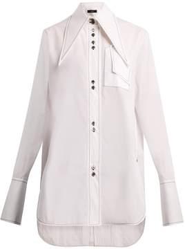 Ellery Supernova exaggerated-collar cotton shirt