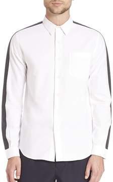 Ami Men's Striped Wool Oxford Shirt