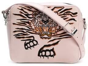 Kenzo Women's Pink Leather Shoulder Bag.