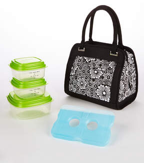 Fit & Fresh Lace & Floral Ashland Insulated Lunch Bag Set