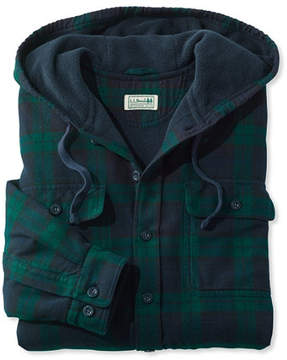 L.L. Bean Fleece-Lined Flannel Shirt, Traditional Fit Hooded