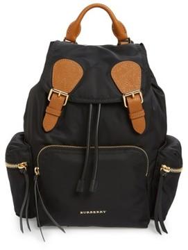 Burberry 'Medium Runway Rucksack' Nylon Backpack - Black - BLACK - STYLE