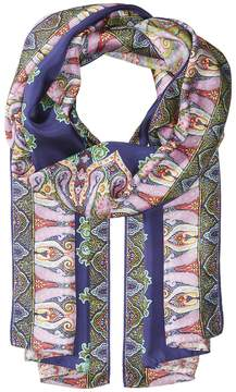 Echo Sea Fan Paisley Silk Oblong Scarves