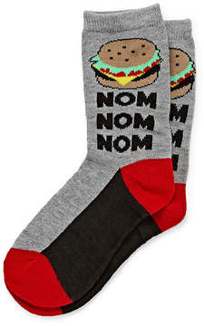 Arizona Boys 1 Pack Hamburger Print Sock