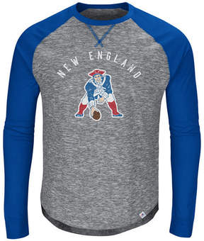 Majestic Men's New England Patriots Corner Blitz Raglan Long Sleeve T-Shirt