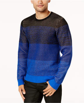GUESS Men's Colorblocked Mesh Sweater