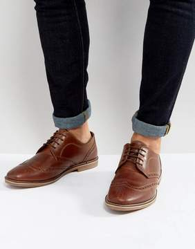 Red Tape Brogues Tan Leather
