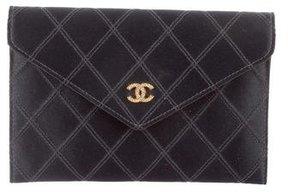 Chanel Embellished Satin Wallet