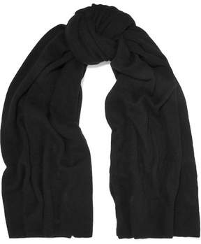 The Elder Statesman Super Blanket Cashmere Scarf - Black