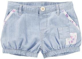 Osh Kosh Baby Girl Hickory Stripe Patchwork Bubble Shorts