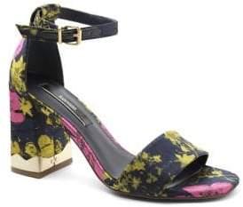 Kensie Sahar Textile Block Heel Sandal