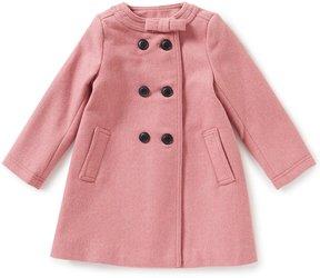 Edgehill Collection Little Girls 2T-6X Bow-Neckline Coat