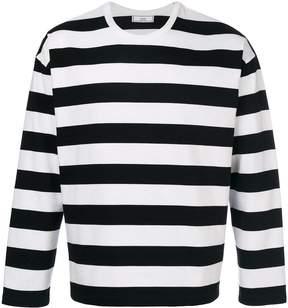 Ami Alexandre Mattiussi Striped Long Sleeved T-shirt