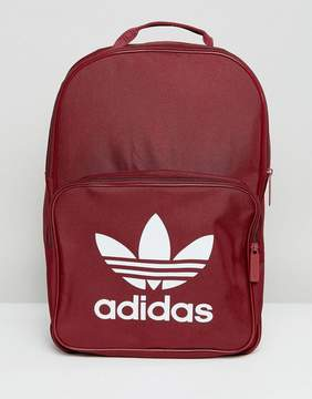 adidas Classic Burgundy Backpack With Trefoil Logo