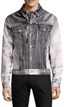 Moschino Men's Point Collar Denim Jacket