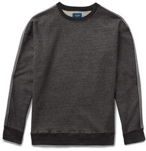 Beams Webbing-Trimmed Mélange Loopback Cotton-Jersey Sweatshirt