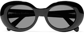 Acne Studios Mustang Oval-frame Acetate Sunglasses - Black