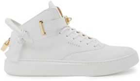 Buscemi 100mm Alce grained-leather mid-top trainers