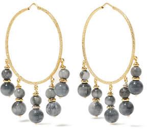 Carolina Bucci Recharmed 18-karat Gold Agate Hoop Earrings