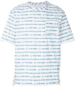 Sacai All in Due Course print T-shirt