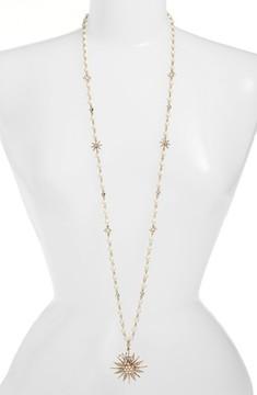 Jenny Packham Women's Long Star Drop Beaded Necklace