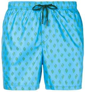 fe-fe cactus print swim shorts