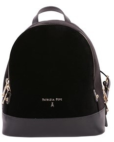 Patrizia Pepe Women's Black Leather Backpack.