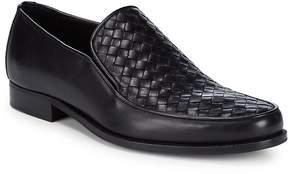 Bottega Veneta Men's Basketweave Leather Loafers