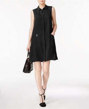 Alfani Zip-Pocket A-Line Shirtdress, Created for Macy's