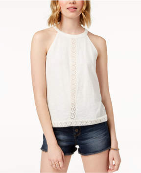 American Rag Juniors' Lace-Trimmed Sleeveless Top, Created for Macy's