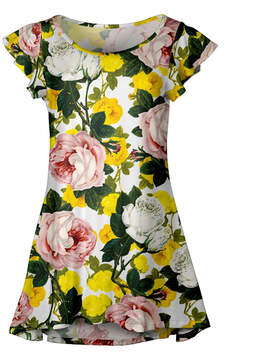 Lily Pink & Yellow Floral Ruffle-Sleeve Tunic - Women & Plus