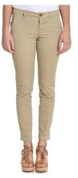 Berwich Women's Beige Cotton Pants.