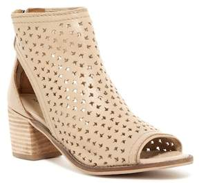 Kelsi Dagger Brooklyn Gateway Perforated Leather Open Toe Bootie