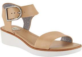 ED Ellen Degeneres As Is Leather Wedge Sandals - Stella