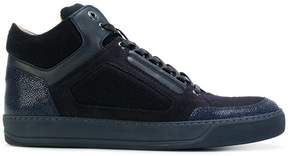 Lanvin panelled mid-top sneakers