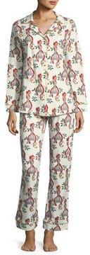 BedHead Holly Eiffel Tower Print Long Pajama Set