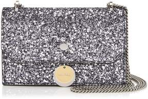 Jimmy Choo FINLEY Gunmetal Mix Star Coarse Glitter Fabric Cross Body Mini Bag