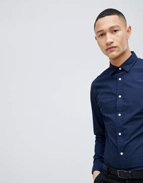 Selected Slim Contrast Button Shirt
