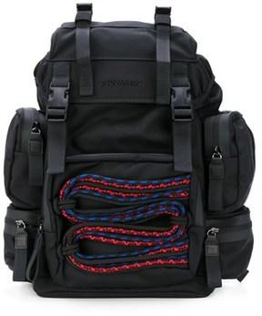 DSQUARED2 Men's Black Polyamide Backpack.
