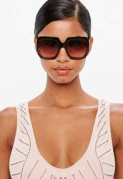 Missguided Brown Tortoise Shell Sunglasses
