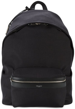 Saint Laurent classic Hunting leather trim backpack