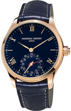 Frederique Constant FC285N5B4 Smartwatch navy round leather strap
