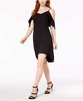 Bar III Cold-Shoulder Flutter-Sleeve Dress, Created for Macy's