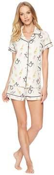 BedHead Makeup Party Short Sleeve Shorts Pajamas Women's Pajama Sets