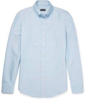 Tom Ford Slim-Fit Button-Down Collar Washed Cotton-Oxford Shirt