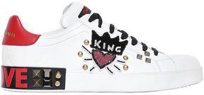 King Of Love Embellished Leather Sneaker