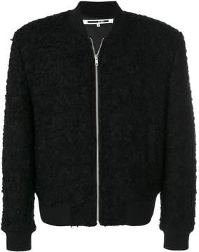 McQ shearling bomber jacket
